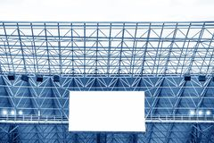 Electronic display at stadium Stock Photo