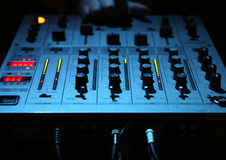 Electronic DJ Mixer Stock Photos