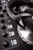 Electronic DJ Mixer close up Royalty Free Stock Photography