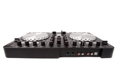 Electronic DJ Mixer close up Stock Image