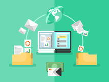Electronic document management Royalty Free Stock Images
