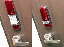 Electronic door lock Stock Images