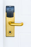 Electronic door lock Stock Image