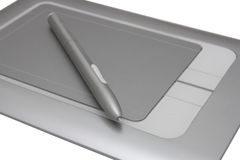 Electronic drawing pen tablet Stock Photos