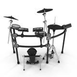 Electronic Drum Kit on white. 3D illustration Stock Photos