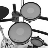 Electronic Drum Kit on white. 3D illustration Stock Images