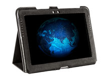 Electronic Earth on tablet  screen Stock Image