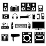 Electronic and electric appliances and devices Royalty Free Stock Photos