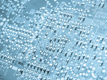 Electronic elements on a circuit board Stock Photography