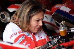 Electronic engineer Ducati 1998 Xerox team stock photo
