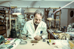 Electronic engineer in the laboratory Royalty Free Stock Photography