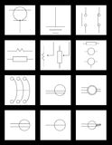 electronic engineering. Few electrical symbols icon illustration used in interior designing Stock Photo
