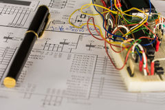Electronic engineering. Conceptual photo of project and construction phase Stock Photo