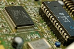 Electronic Engineering, Microcontroller, Technology, Electronic Component stock image