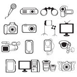 Electronic equipment icons Royalty Free Stock Photos