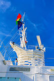 Electronic equipment mast on a cruise ship Stock Photography