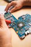 Electronic equipment in service Stock Image