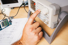 Electronic equipment in service Royalty Free Stock Photo
