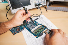 Electronic equipment in service Stock Photo