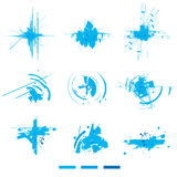 Electronic  explosions. Design elements. Stock Images