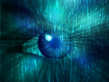 Electronic eye illustration Stock Photo