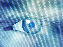 Electronic eye illustration Royalty Free Stock Images