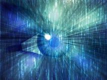 Electronic eye illustration Stock Image