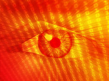 Electronic eye illustration Royalty Free Stock Photos
