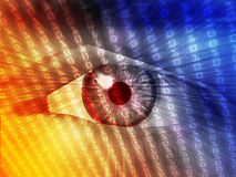 Electronic eye illustration Stock Photography