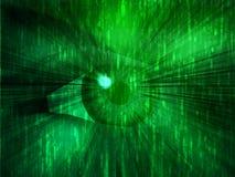 Electronic eye illustration Stock Images