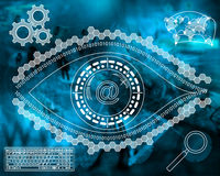 Electronic eye Royalty Free Stock Photos