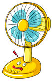 Electronic fan with face Stock Image