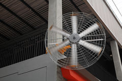 electronic fan at outdoor shopping mall Stock Image