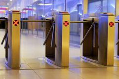 Electronic fare gantry Royalty Free Stock Photography