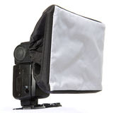 Electronic flash diffuser. Diffusion Flash adapter especially for macro or micro photography of small insects or objects Stock Images