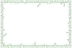 Electronic framework Stock Images