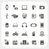 Electronic and gadget icons set Royalty Free Stock Photo