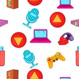 Electronic gadget pattern, cartoon style Stock Images