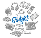 Electronic Gadgets Collection Stock Images