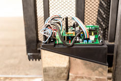 Electronic Gate control system motor Royalty Free Stock Image