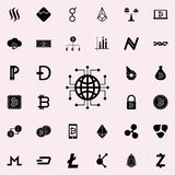 electronic globalization icon. Crypto currency icons universal set for web and mobile vector illustration