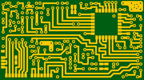Electronic green circuit background - vector eps8 Royalty Free Stock Photography