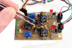 electronic hand made part Στοκ Φωτογραφίες