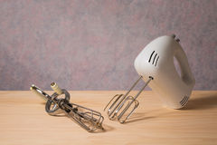 Electronic hand mixer and manual hand mixer Royalty Free Stock Photo