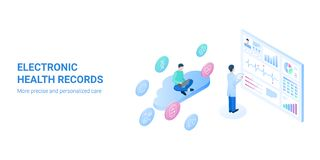An electronic health record EHR - vector illustration. vector illustration
