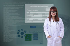 Electronic health system. Royalty Free Stock Photography