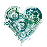 Electronic Heart. A symbolic electronic circuit in heart shape royalty free illustration