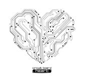 Electronic heart technology background Stock Photography