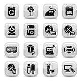 Electronic home devices icons Royalty Free Stock Photos