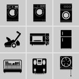 Electronic home icon set. great for any use. Vector EPS10. Stock Photos